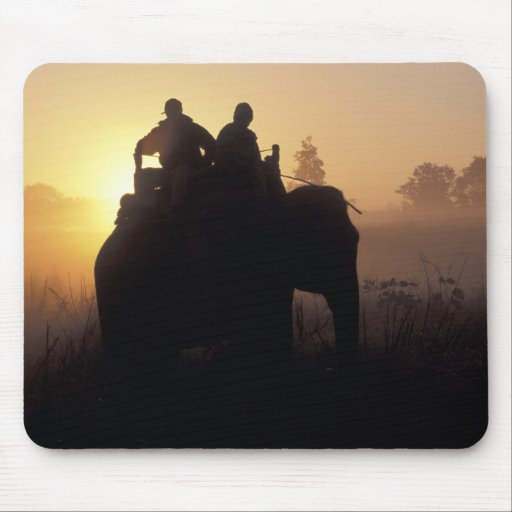 Asia, India, Kanha NP, Elephant safari Mouse Pad