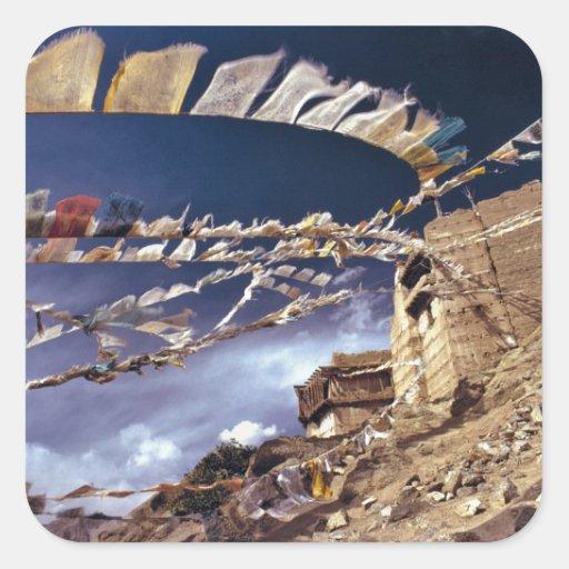 Asia, India, Ladakh, Leh. Known as Little Square Sticker