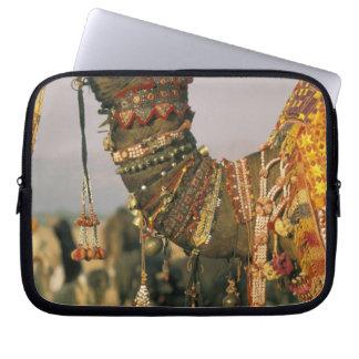Asia, India, Pushkar. Camel Shamu , Pushkar Laptop Sleeves