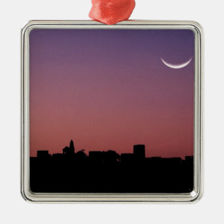 Asia, India, Rajasthan, Jaipur. A crescent Square Metal Christmas Ornament