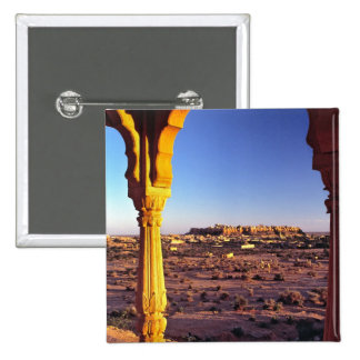 Asia, India, Rajasthan, Jaisalmer. The view from 2 Inch Square Button
