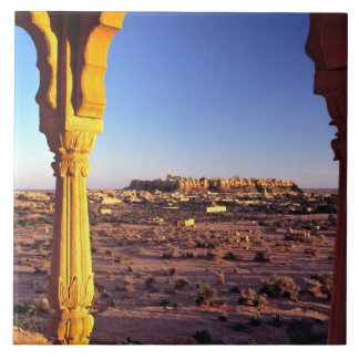 Asia, India, Rajasthan, Jaisalmer. The view from Large Square Tile