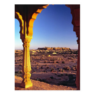 Asia, India, Rajasthan, Jaisalmer. The view from Postcard