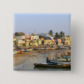 Asia, India, Tamil Nadu, Kanniyakumari Pinback Button