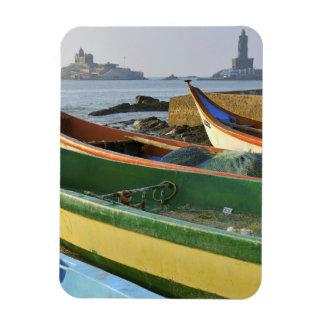 Asia, India, Tamil Nadu, Kanniyakumari Rectangular Photo Magnet