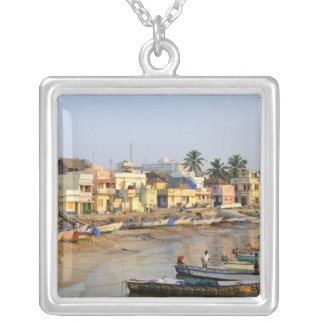 Asia, India, Tamil Nadu, Kanniyakumari Silver Plated Necklace