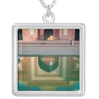 Asia, India, Uttar Pradesh, Agra. On the 2 Silver Plated Necklace
