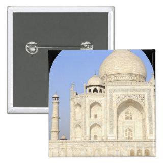 Asia, India, Uttar Pradesh, Agra. The Taj 2 2 Inch Square Button