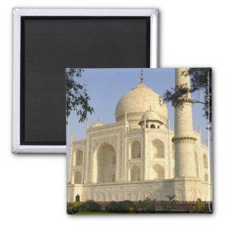 Asia, India, Uttar Pradesh, Agra. The Taj 2 Inch Square Magnet