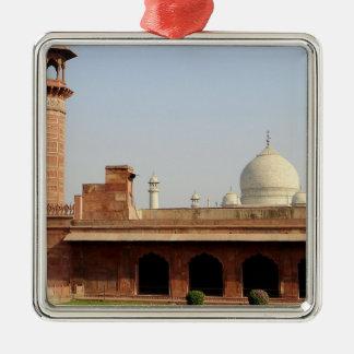 Asia, India, Uttar Pradesh, Agra. The Taj 6 Metal Ornament
