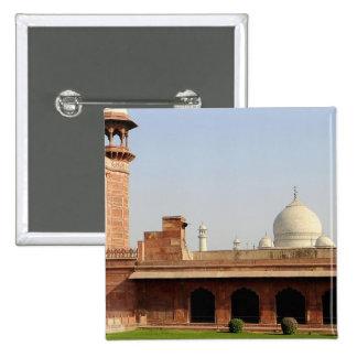 Asia, India, Uttar Pradesh, Agra. The Taj 6 Pinback Button