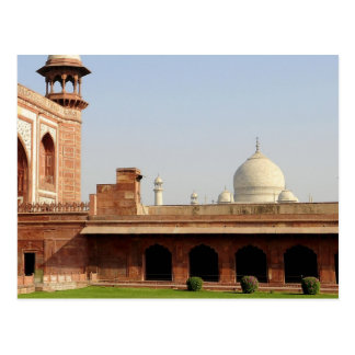 Asia, India, Uttar Pradesh, Agra. The Taj 6 Postcard