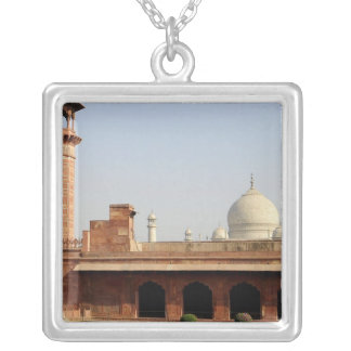 Asia, India, Uttar Pradesh, Agra. The Taj 6 Silver Plated Necklace