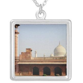 Asia, India, Uttar Pradesh, Agra. The Taj 6 Square Pendant Necklace