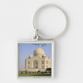 Asia, India, Uttar Pradesh, Agra. The Taj 7 Silver-Colored Square Keychain
