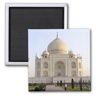 Asia, India, Uttar Pradesh, Agra. The Taj 8 2 Inch Square Magnet