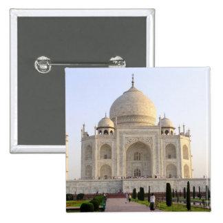 Asia, India, Uttar Pradesh, Agra. The Taj 8 2 Inch Square Button