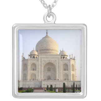 Asia, India, Uttar Pradesh, Agra. The Taj 8 Silver Plated Necklace