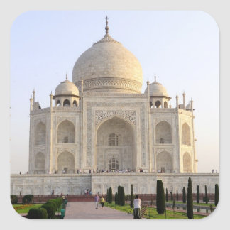 Asia, India, Uttar Pradesh, Agra. The Taj 8 Square Sticker