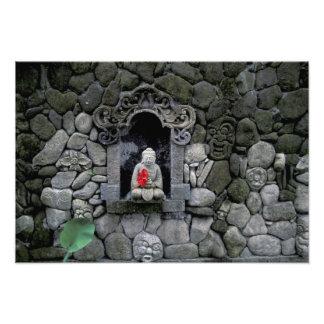 Asia, Indonesia, Bali. Una capilla de Buda Cojinete
