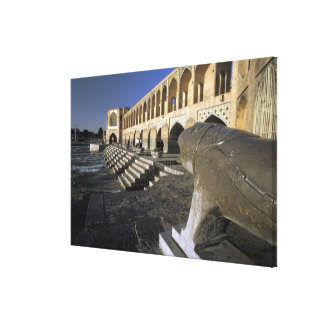 Asia, Iran, Isfahan. Pol-e Khaju Bridge. Canvas Print