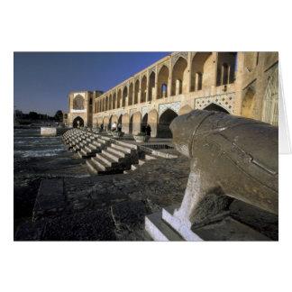 Asia, Iran, Isfahan. Pol-e Khaju Bridge. Card