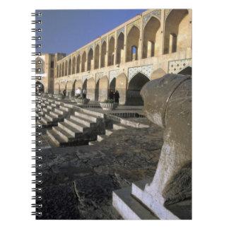 Asia, Iran, Isfahan. Pol-e Khaju Bridge. Spiral Notebooks