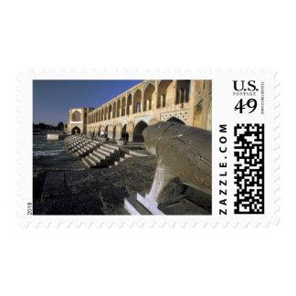 Asia, Iran, Isfahan. Pol-e Khaju Bridge. Postage Stamp
