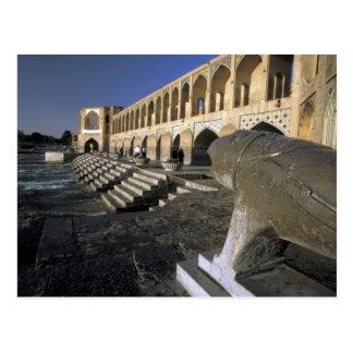 Asia, Iran, Isfahan. Pol-e Khaju Bridge. Postcard
