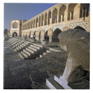 Asia, Iran, Isfahan. Pol-e Khaju Bridge. Large Square Tile