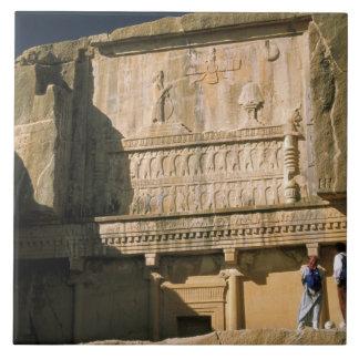 Asia, Irán, Persepolis.Tomb de Darius el grande Azulejo Cuadrado Grande