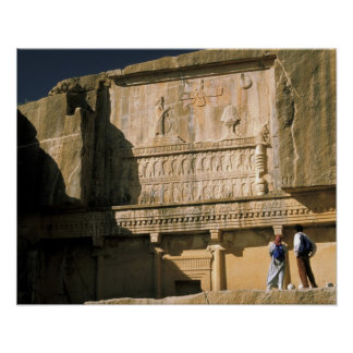 Asia, Irán, Persepolis.Tomb de Darius el grande Póster