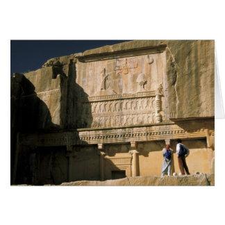 Asia, Iran, Persepolis.Tomb of Darius the Great. Card