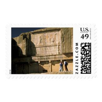 Asia, Iran, Persepolis.Tomb of Darius the Great. Postage Stamp