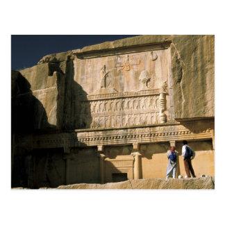 Asia, Iran, Persepolis.Tomb of Darius the Great. Postcard