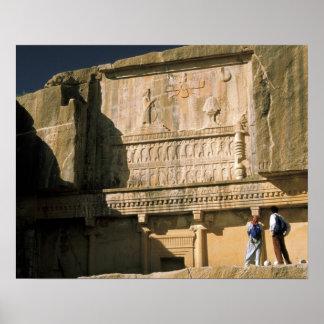 Asia, Iran, Persepolis.Tomb of Darius the Great. Print