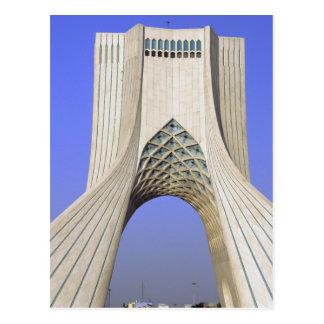 Asia, Irán, Teherán. Monumento de la libertad en A Tarjeta Postal