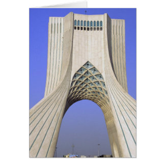 Asia, Iran, Tehran. Freedom Monument in Azadi Card