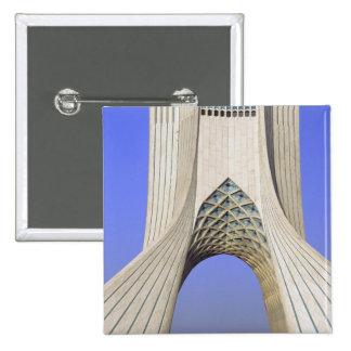 Asia, Iran, Tehran. Freedom Monument in Azadi Pinback Button