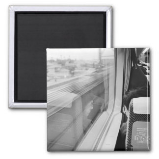 Asia, Japan. Aboard the Shinkansen Bullet Train Magnet