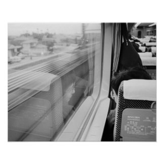 Asia, Japan. Aboard the Shinkansen Bullet Train Poster