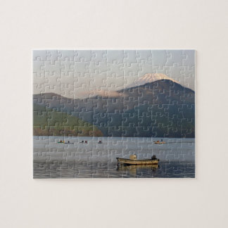 Asia, Japan, Hakone. Early morning views of Mt. Jigsaw Puzzle