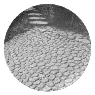 Asia, Japan, Hiroshima. Detail of Shukkei, en Melamine Plate
