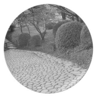 Asia, Japan, Hiroshima. Shukkei, en Garden Dinner Plate