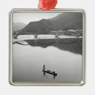 Asia, Japan, Iwakuni. Fishermen and historic 2 Metal Ornament