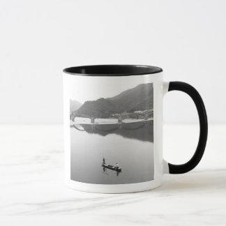 Asia, Japan, Iwakuni. Fishermen and historic 2 Mug