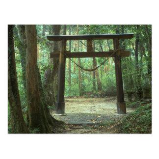 Asia, Japan, Kagoshima, Yakushima, Mountain Postcard