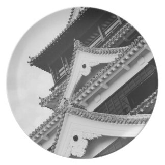 Asia, Japan, Kumamoto. Detail of the Kumamoto, Party Plates