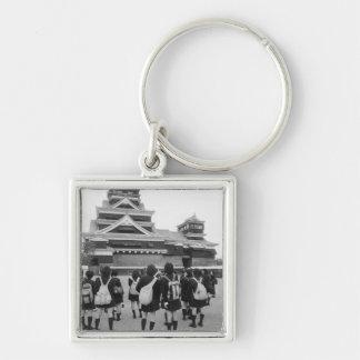 Asia, Japan, Kumamoto. Schoolchildren at Keychain