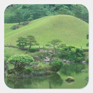 Asia, Japan, Kumamoto, Suizenji Koen Square Sticker